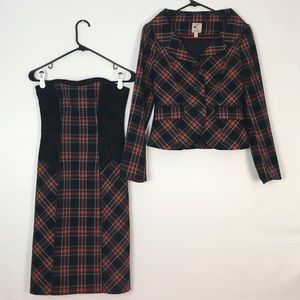 Dress + Blazer Set Plaid Lace Tristan XS/S